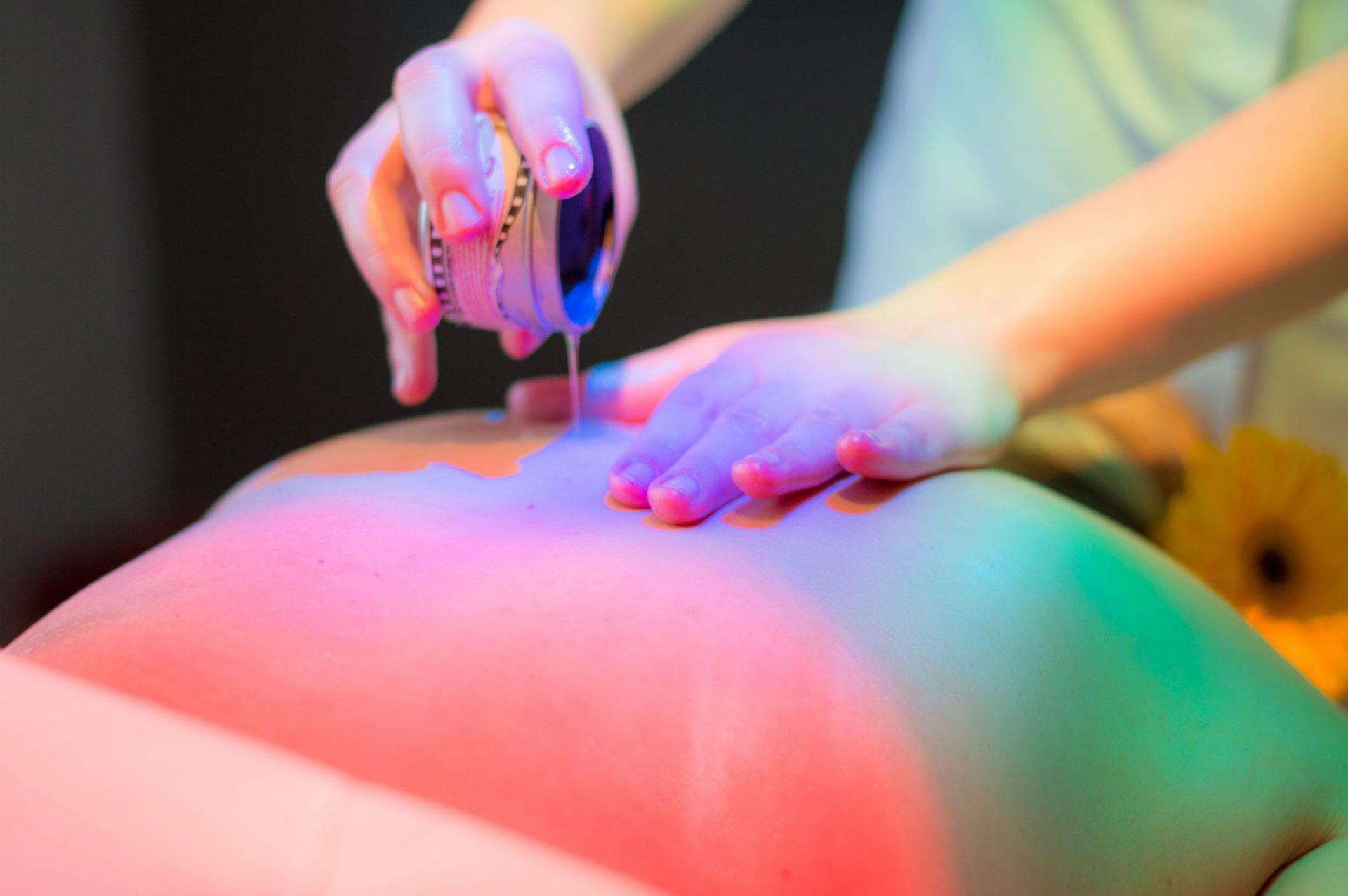 Massagem com velas